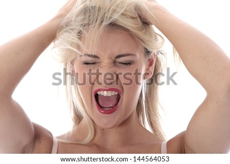Model Released. Frustrated Young Woman