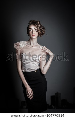 model studio shoot /urban 3/ - stock photo