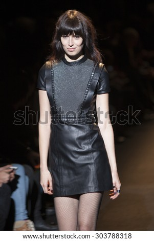 Model walk the runway for Fashion for Relief Show during Mercedes Benz Fashion Week Fall Winter in New York City on February 14, 2015 - stock photo