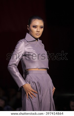 Young Lady Biblical Attire Looking Away Stock Photo