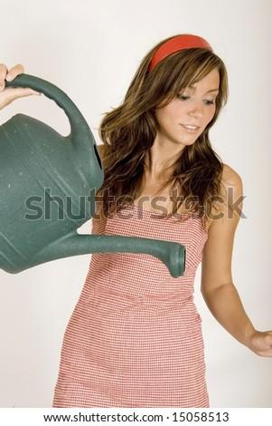 model watering - stock photo