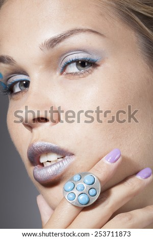 model with professional make up