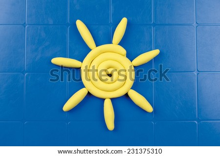 modeling clay - stock photo