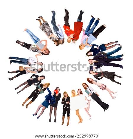 Models Diversity Together we Stand  - stock photo