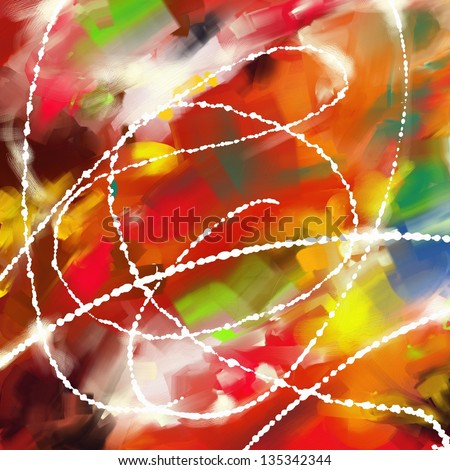 Modern abstract art painting