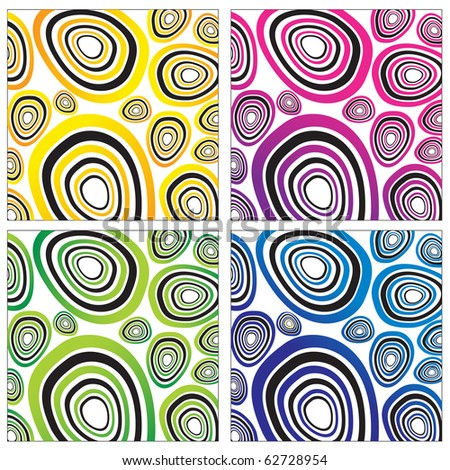 Modern abstract background set