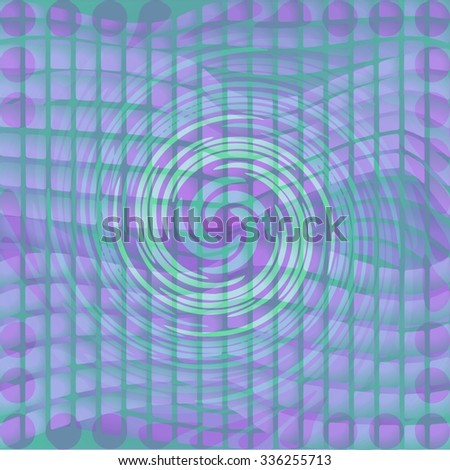 Modern abstract background with twist shape on mosaic area