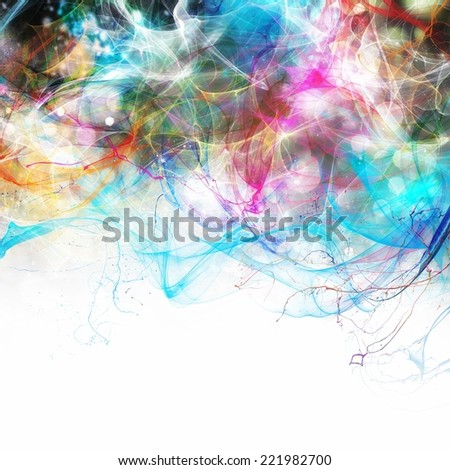 Modern abstract motion banner with white space for your text - stock photo