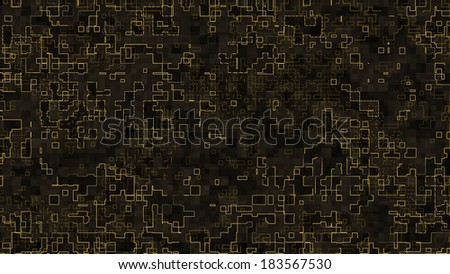 Modern abstract strokes following paths and forming a big network. - stock photo