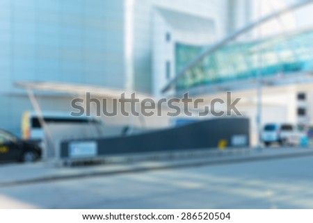 Modern airport abstract blur bokeh effect background - stock photo