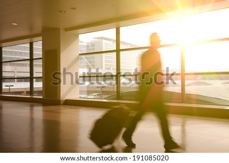 Modern Airport Passenger Aisle Interior Glass Stock Photo 191084981 ...