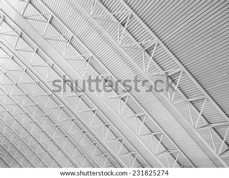 Modern airport roof  - stock photo