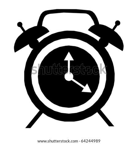 Modern alarm clock sign - stock photo