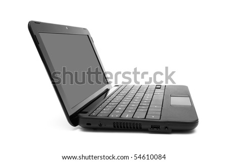 modern and new laptop on a white background - stock photo