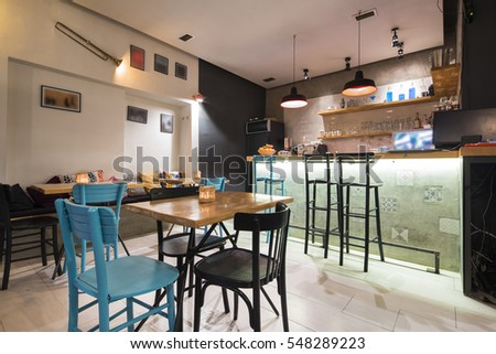 Modern And Simple Cafe Interior
