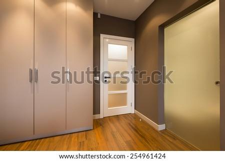 Modern anteroom interior - stock photo