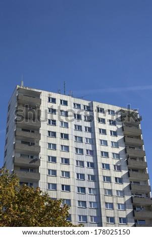 Modern apartement building in Kiel, Germany - stock photo