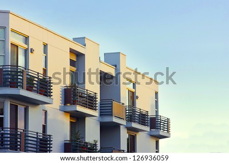 Modern Apartment Balcony Sunset Stock Photo Shutterstock
