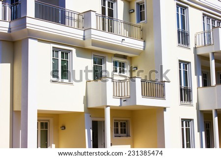 Modern Apartment Block in Berlin, Germany - stock photo