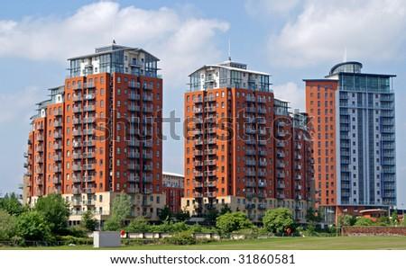 Modern Apartment Blocks - stock photo