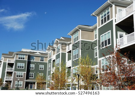 Modern Apartment Building In Sunny Day Gallery