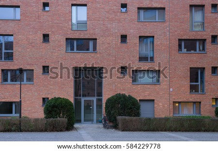 old building facade front view berlin stock photo 584274781 shutterstock. Black Bedroom Furniture Sets. Home Design Ideas