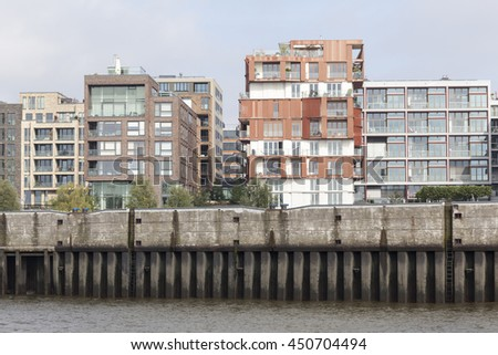 Modern apartment buildings - stock photo