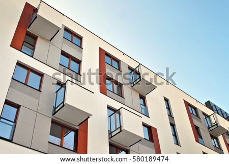 Modern Apartment Building modern luxury apartment building stock photo 587902058 - shutterstock