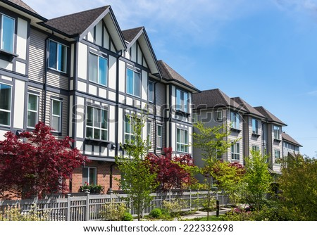 Modern apartment buildings in North America - stock photo