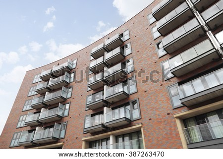 Modern apartment developments - stock photo
