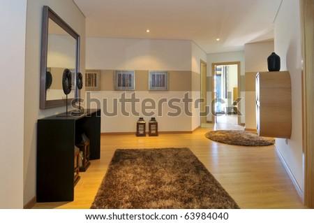 Modern apartment hall decoration - stock photo