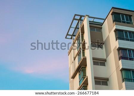 Modern apartment houses. - stock photo