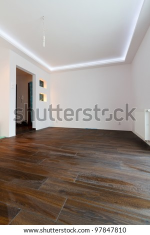 Modern apartment interior after renovation - stock photo
