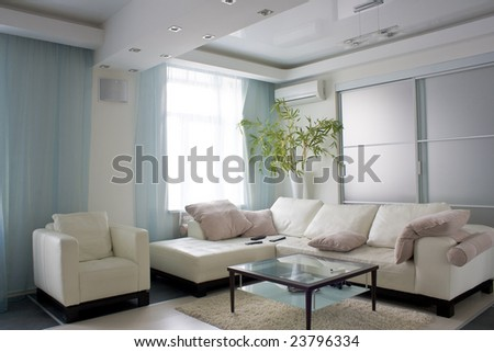 modern apartment interior photo - stock photo