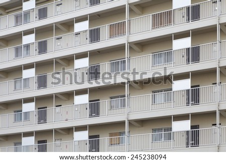 Modern apartment or condominium building exterior close - up  - stock photo
