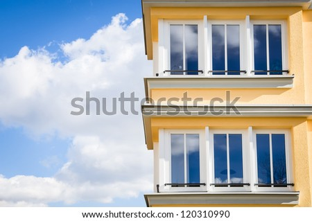 modern appartment building in vienna - nice background - stock photo