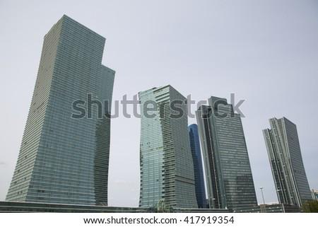 modern archeticture of Astana, Kazakhstan - stock photo