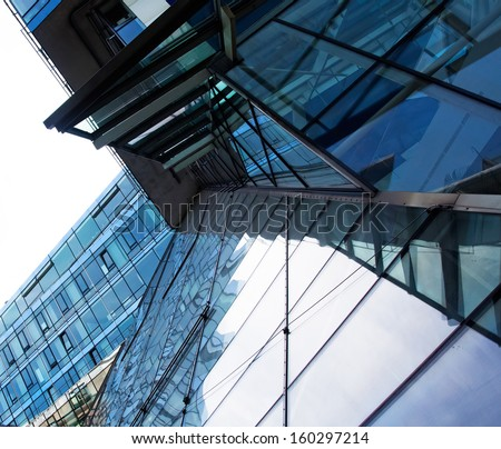 Modern architectural building against a sky - stock photo
