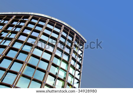 Modern architecture against blue sky