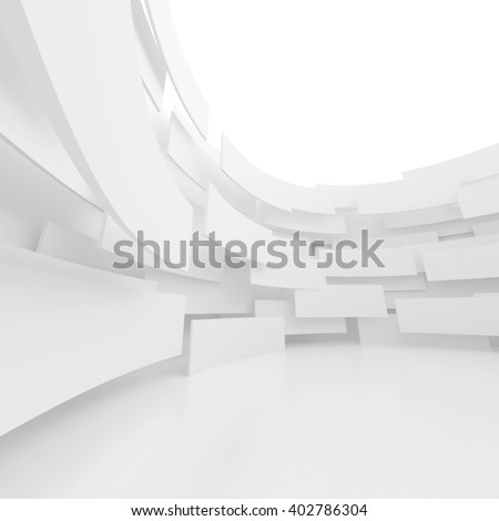Modern Architecture Background. Circular Building Construction. 3d Rendering - stock photo
