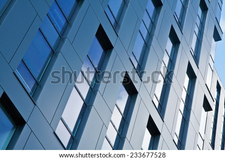 Modern architecture bank financial office tower building - stock photo