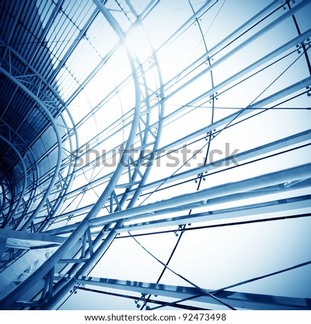 Modern architecture ceiling (top structure) - stock photo
