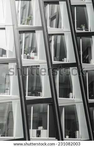 Modern architecture detail in Hamburg, Germany