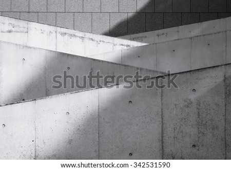 Modern Architecture Details Structure Concrete wall - stock photo
