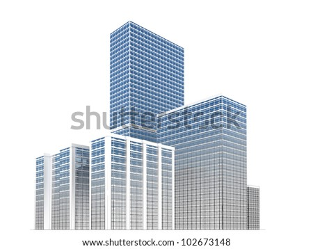 modern architecture development, city towers