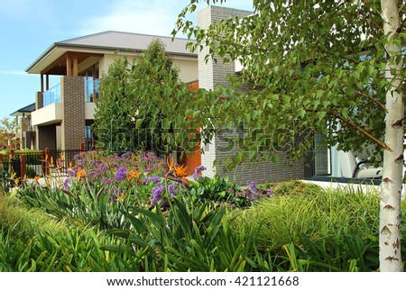 Modern architecture exterior details in Australia - stock photo