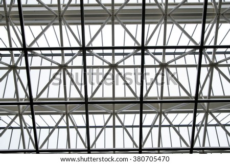 Modern architecture,glass roof - stock photo