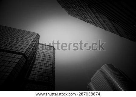 Modern architecture in black and white - stock photo