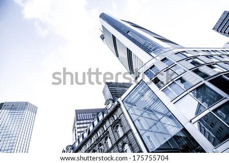 Modern architecture in Frankfurt am Main, Germany, Europe. - stock photo