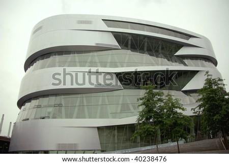 Modern architecture in Stuttgart in Germany - stock photo